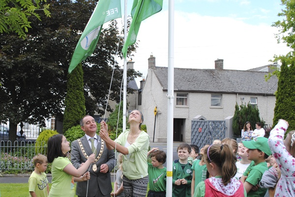 Hoisting the flag with the Lord Mayor