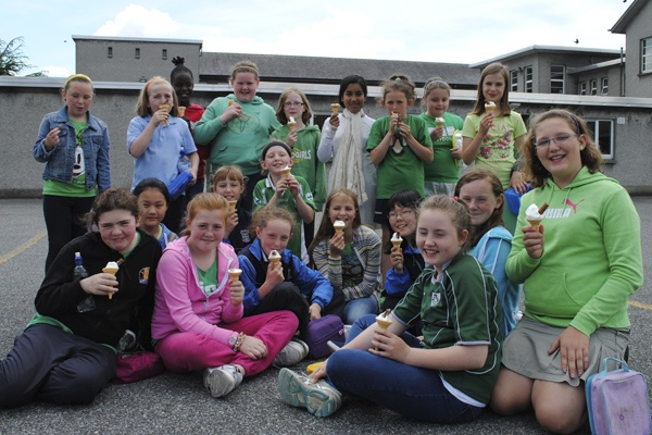 Room11 enjoying their treat.