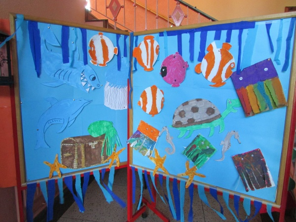 Sea creatures art