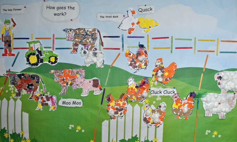 Junior Infants have learned all about the farm.