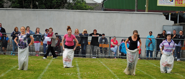 Teachers' Fun Sack Race