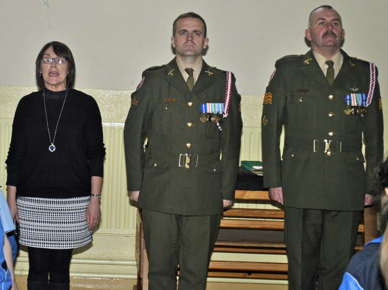 Standing to attention for Amhrán na bhFiann