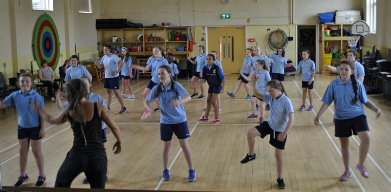 Second to sixth classes learned lots of dance moves from Siobhán.