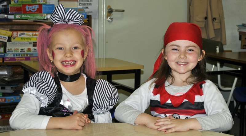 Girls from Room 3 all set for Halloween!