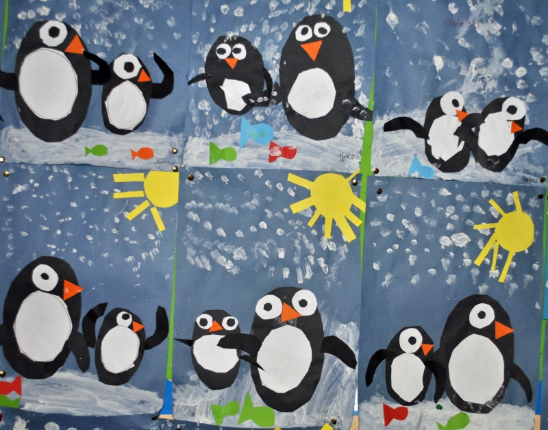 Some of the Winter art to be seen around the school
