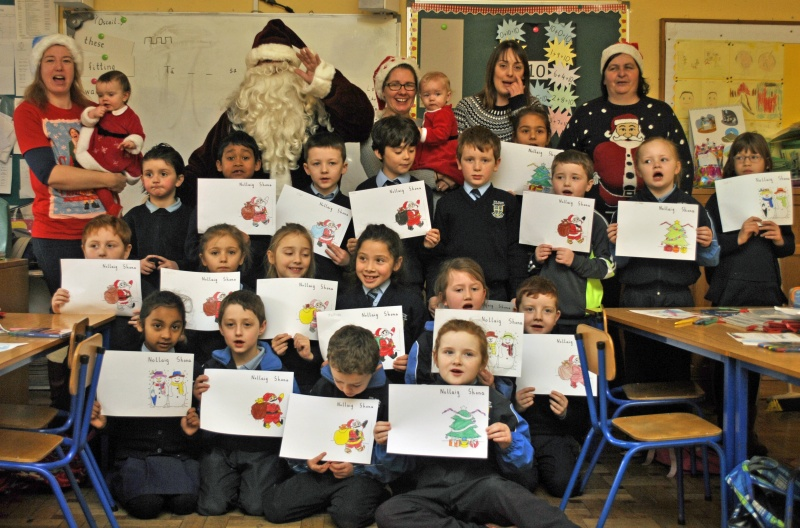 """Santa look at our lovely art,"" said the boys and girls in Room 5."
